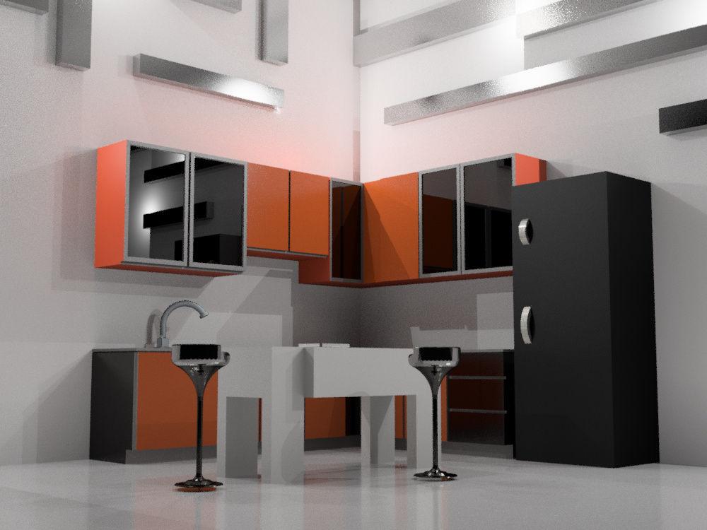 Kitchen set aba autodesk online gallery for Kitchen set environment