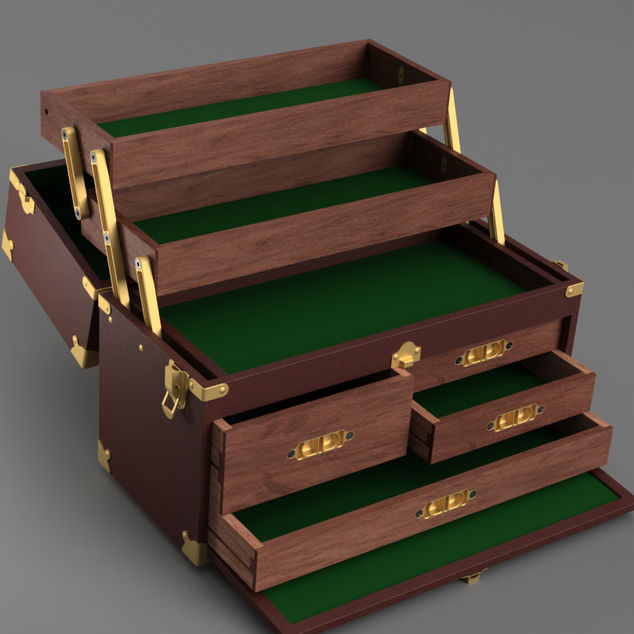 Wooden tool box autodesk online gallery for Online rendering tool