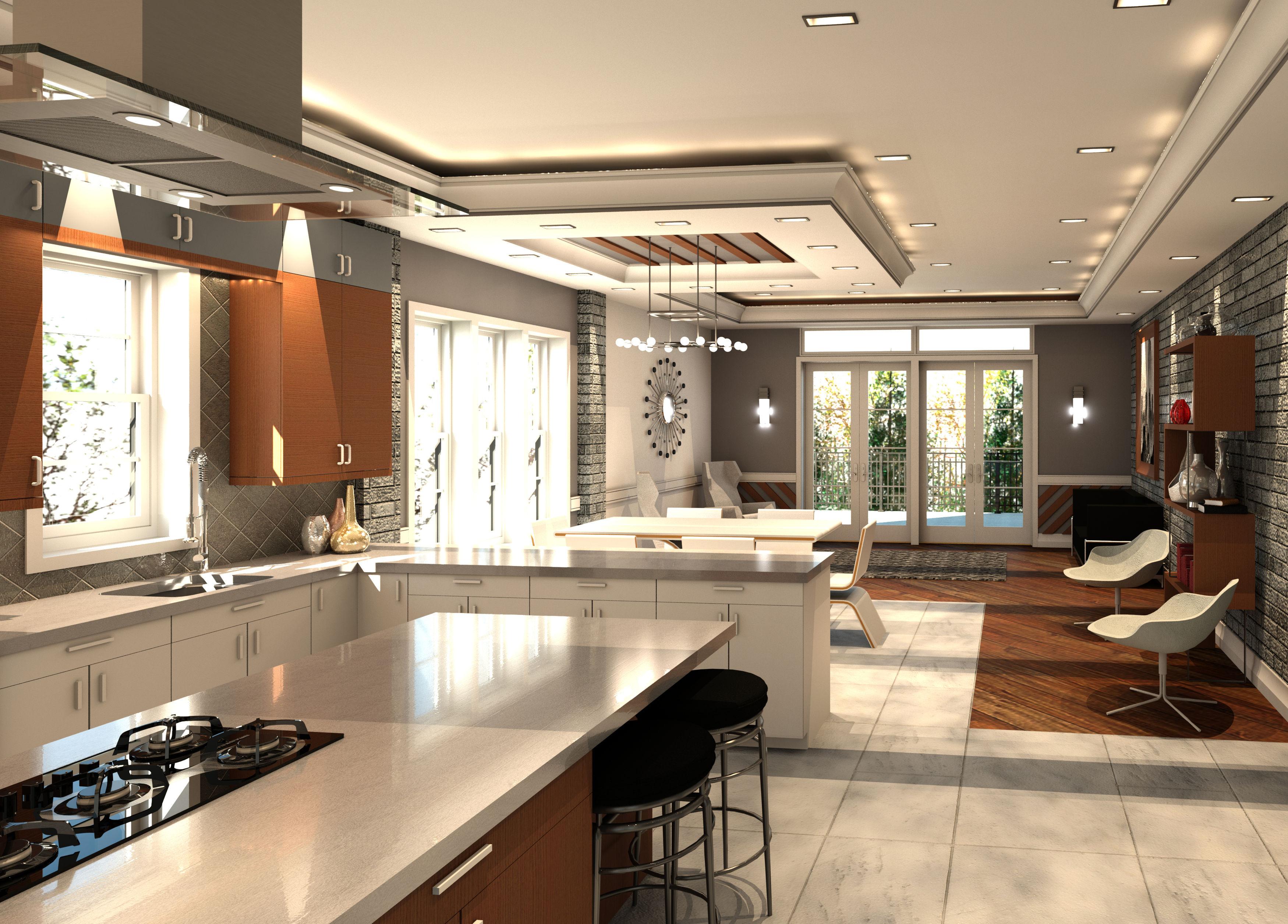 Kitchen Den Combo