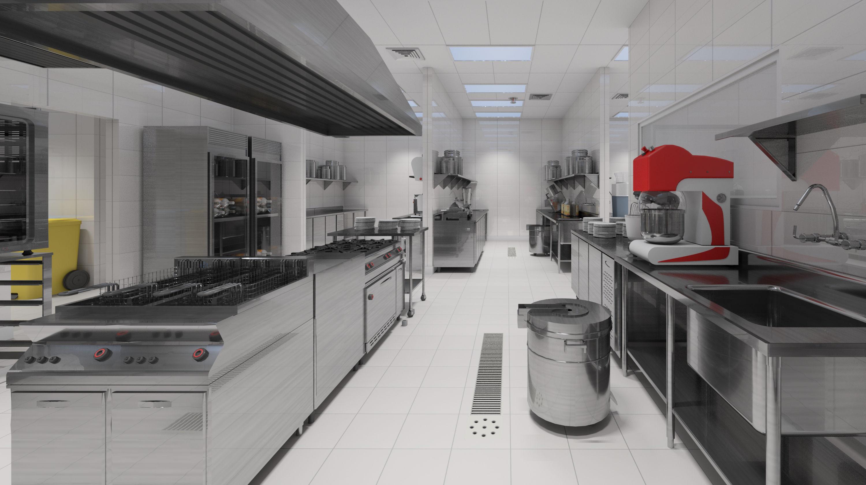 Projeto de cozinha industrial industrial kitchen design for Material de cocina profesional