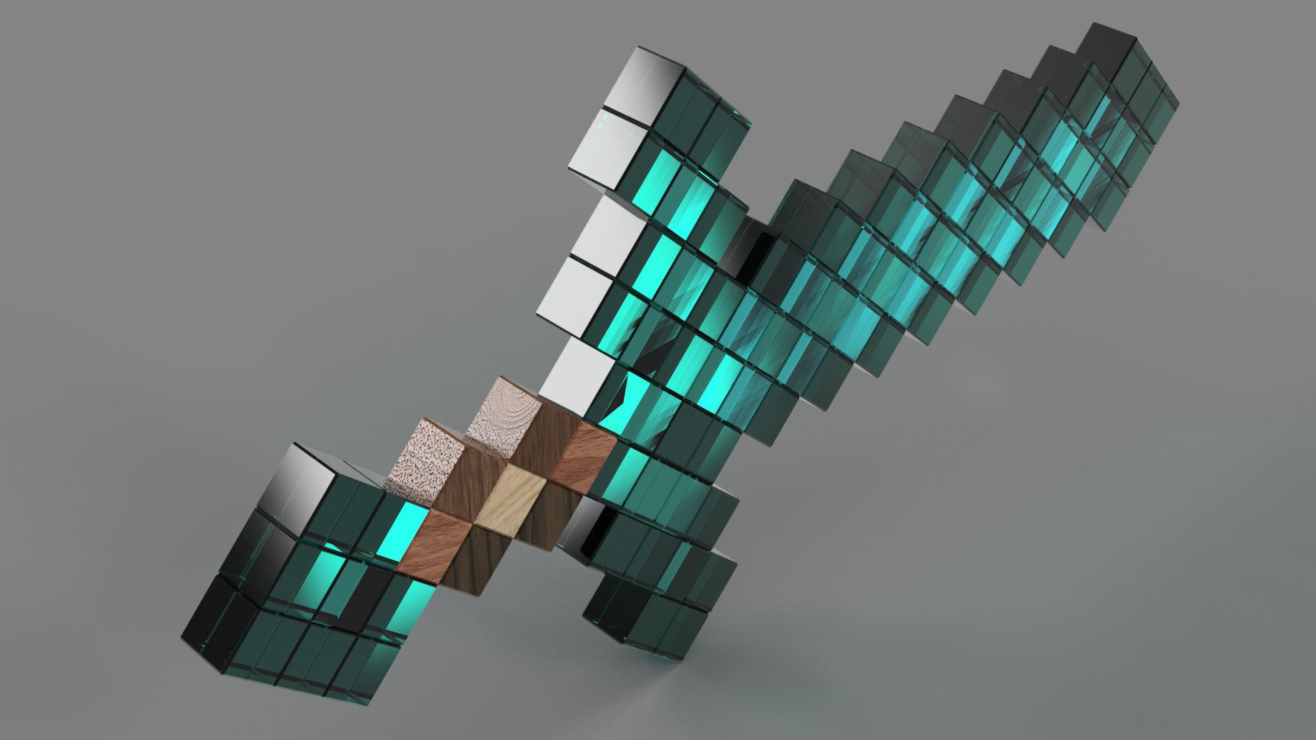Minecraft Diamond Sword|Autodesk Online Gallery