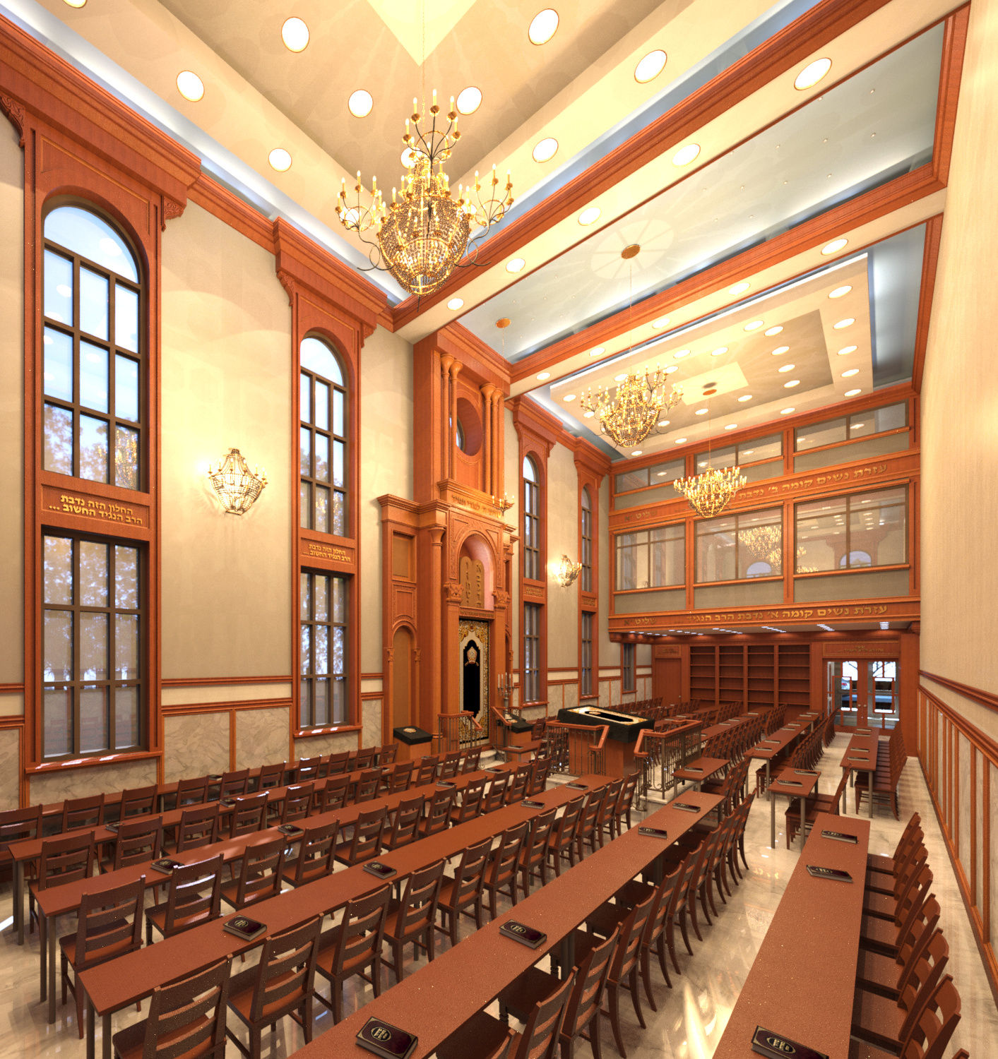 25' X 100' Synagogue Interior/ Exterior- Design