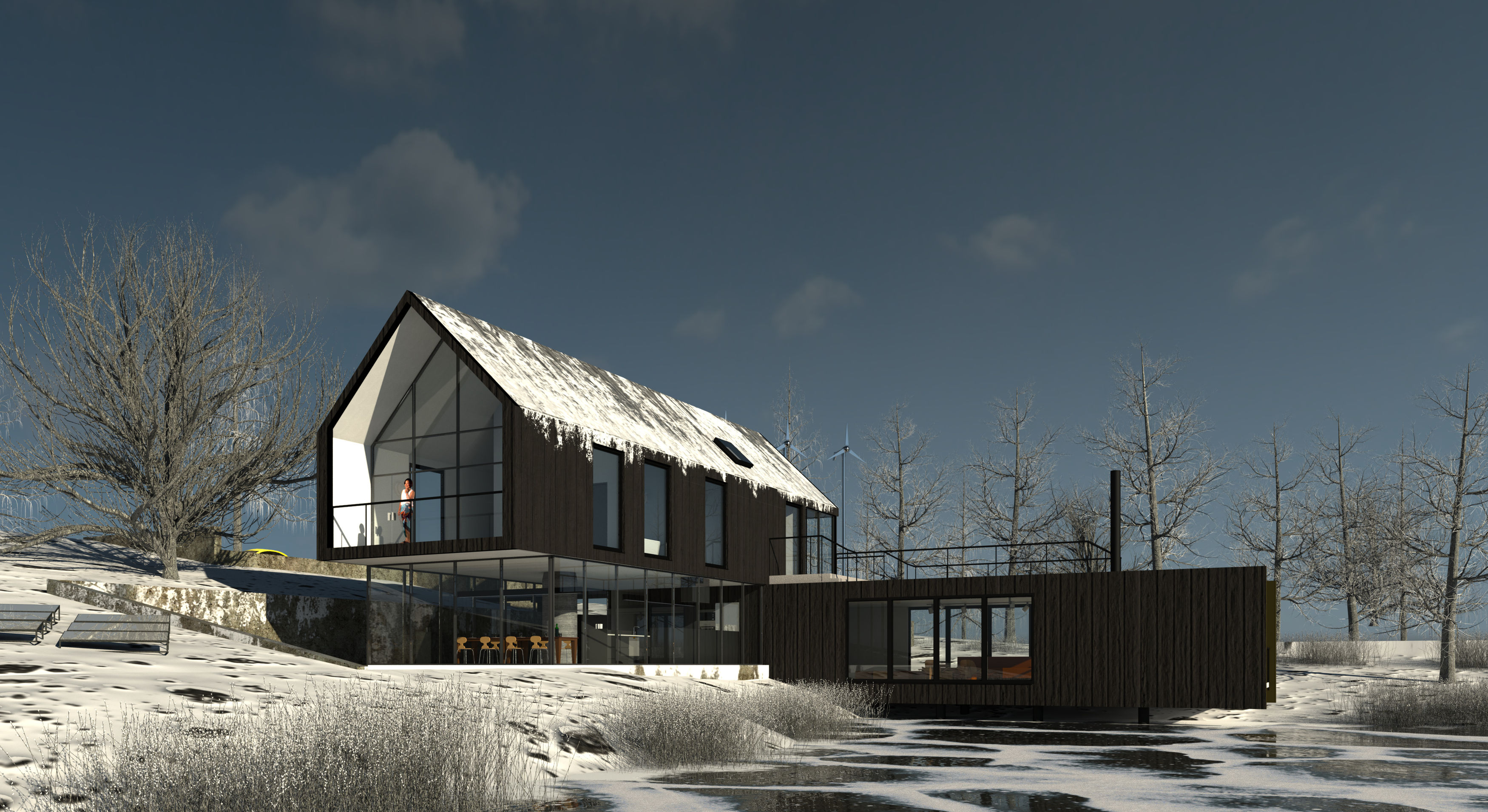 Revit sample project winter autodesk online gallery for Rendering online