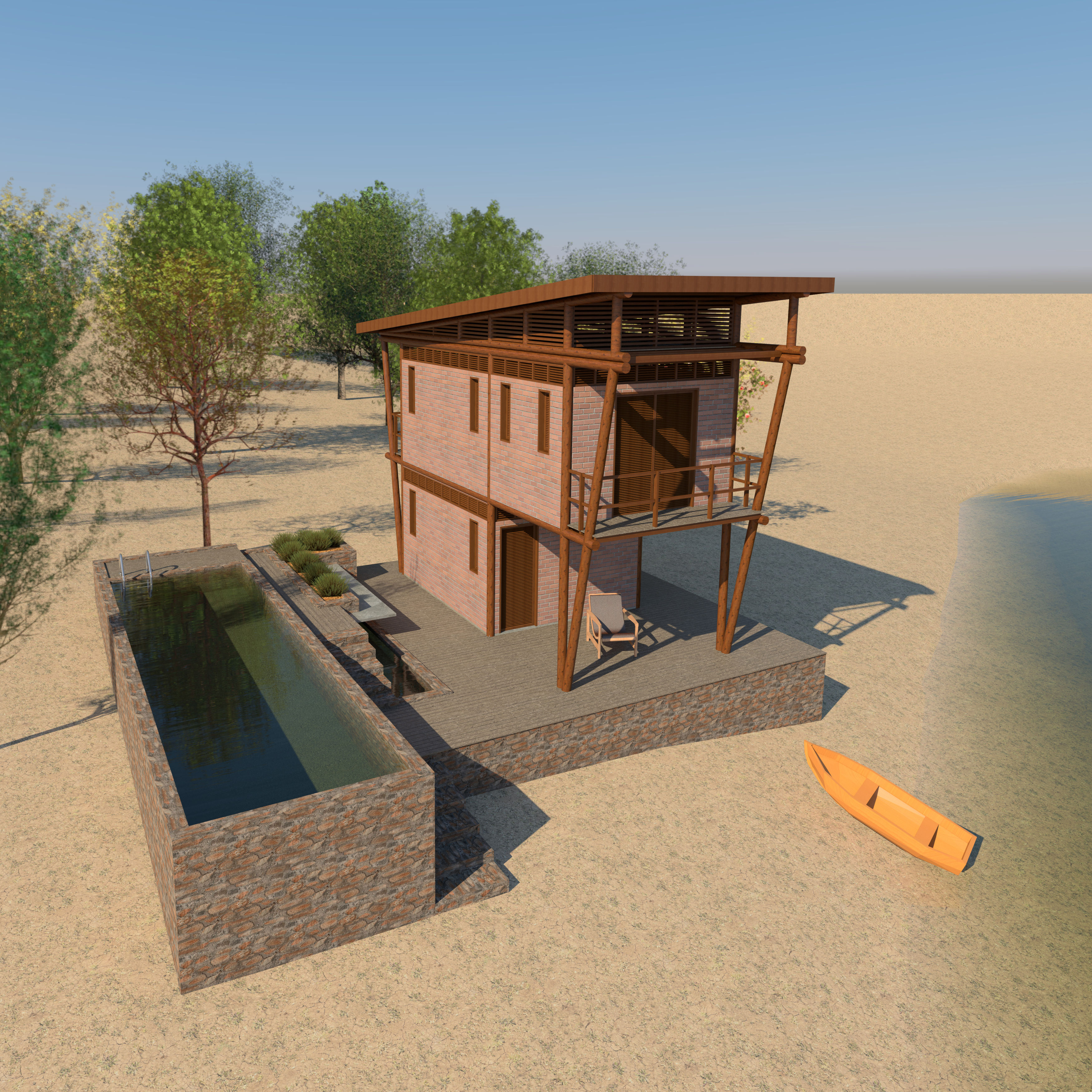 Small House With Wood Structure Autodesk Online Gallery
