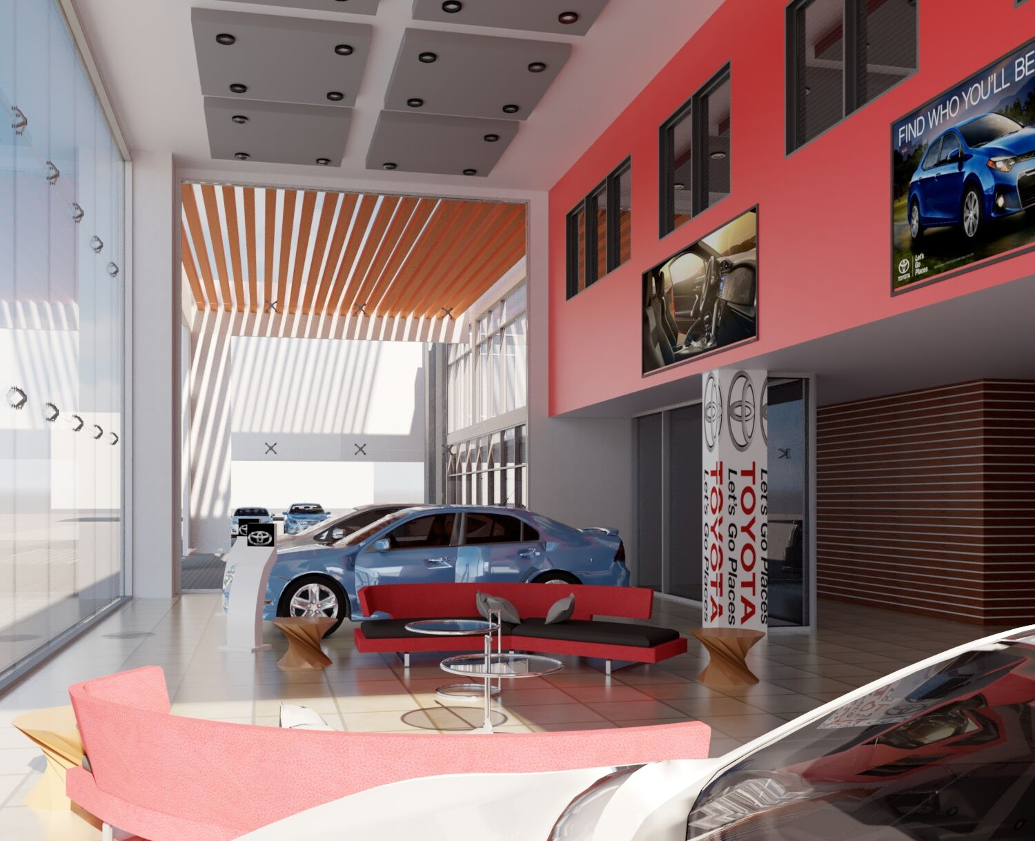 Showroom Concept For Toyota Ghana By Kwaku Sims Autodesk Online Gallery