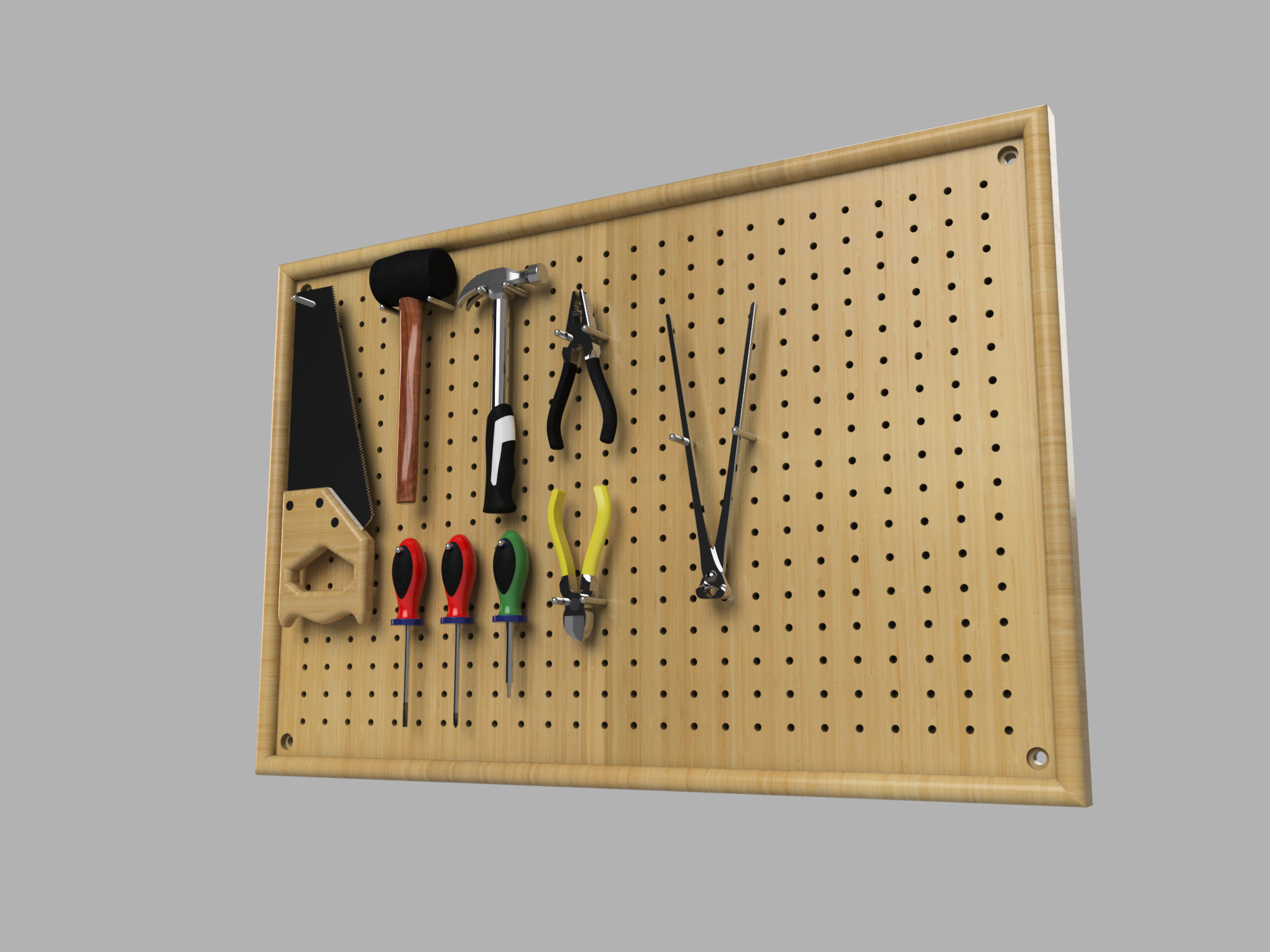 Wall mounted tool rack autodesk online gallery for Online rendering tool