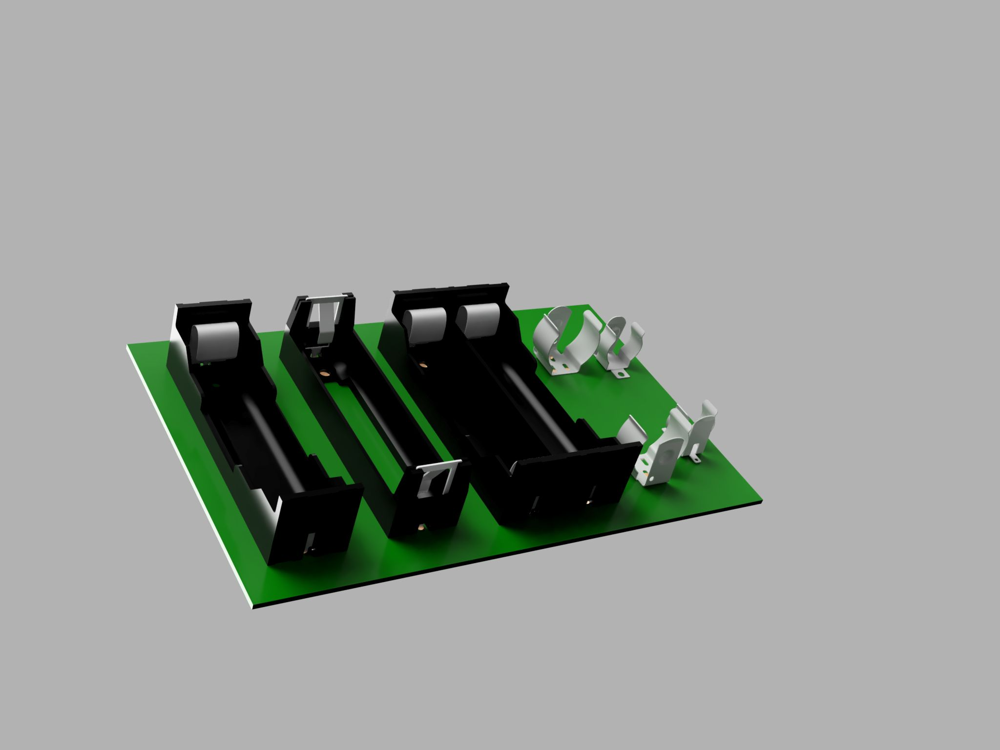 Pack of 3 PCB Mounting Battery Holder 1xAA