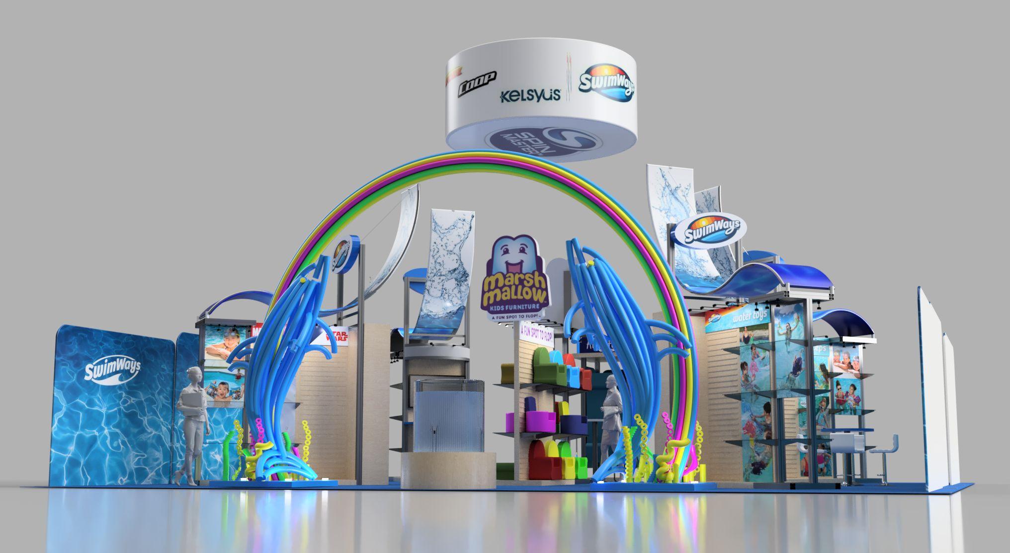 Swimways 40x50 Exhibit Booth Trade Show|Autodesk Online Gallery