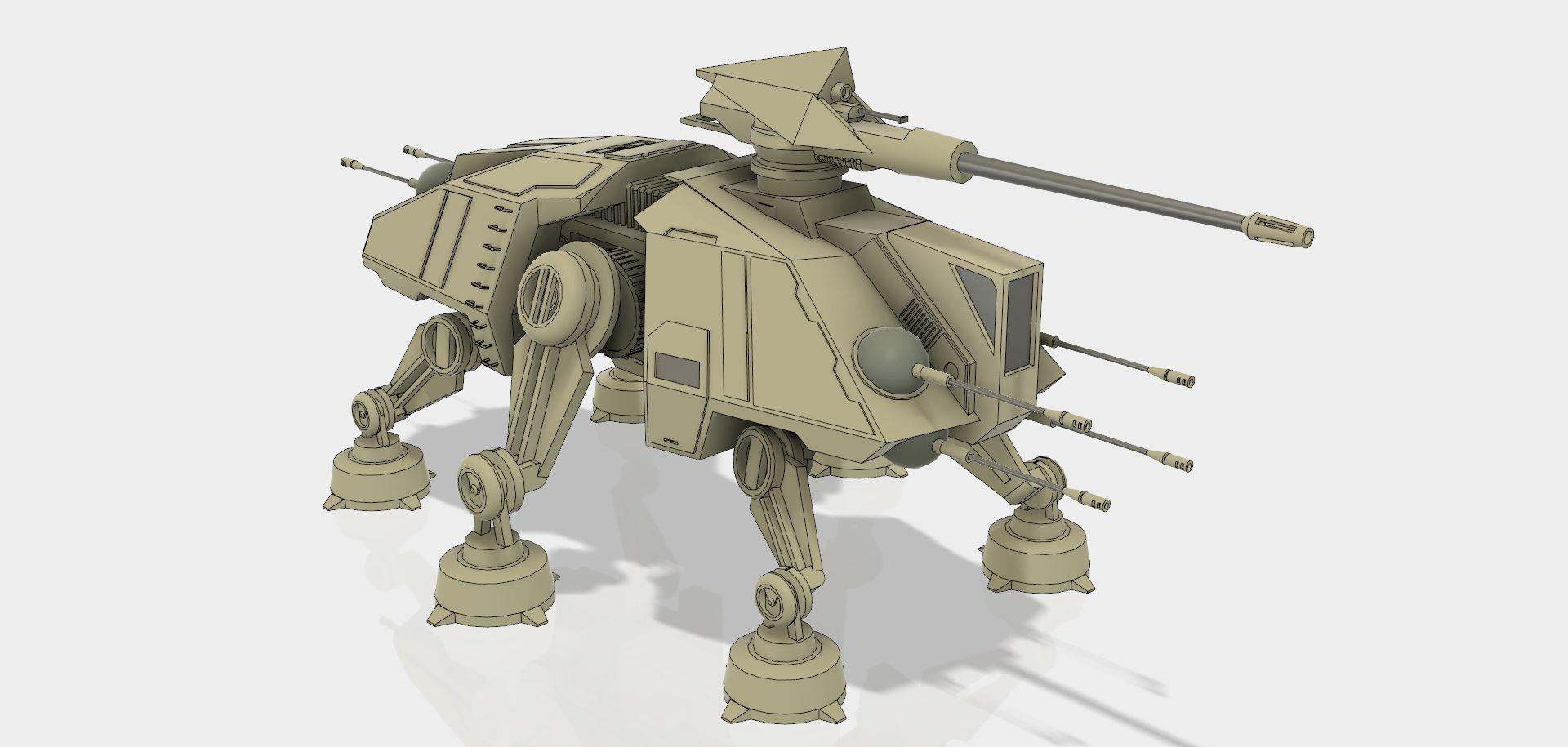 All Terrain Tactical Enforcer (AT-TE)|Autodesk Online Gallery