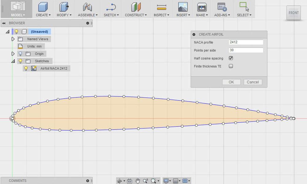 NACA Airfoil Generator|Autodesk Online Gallery