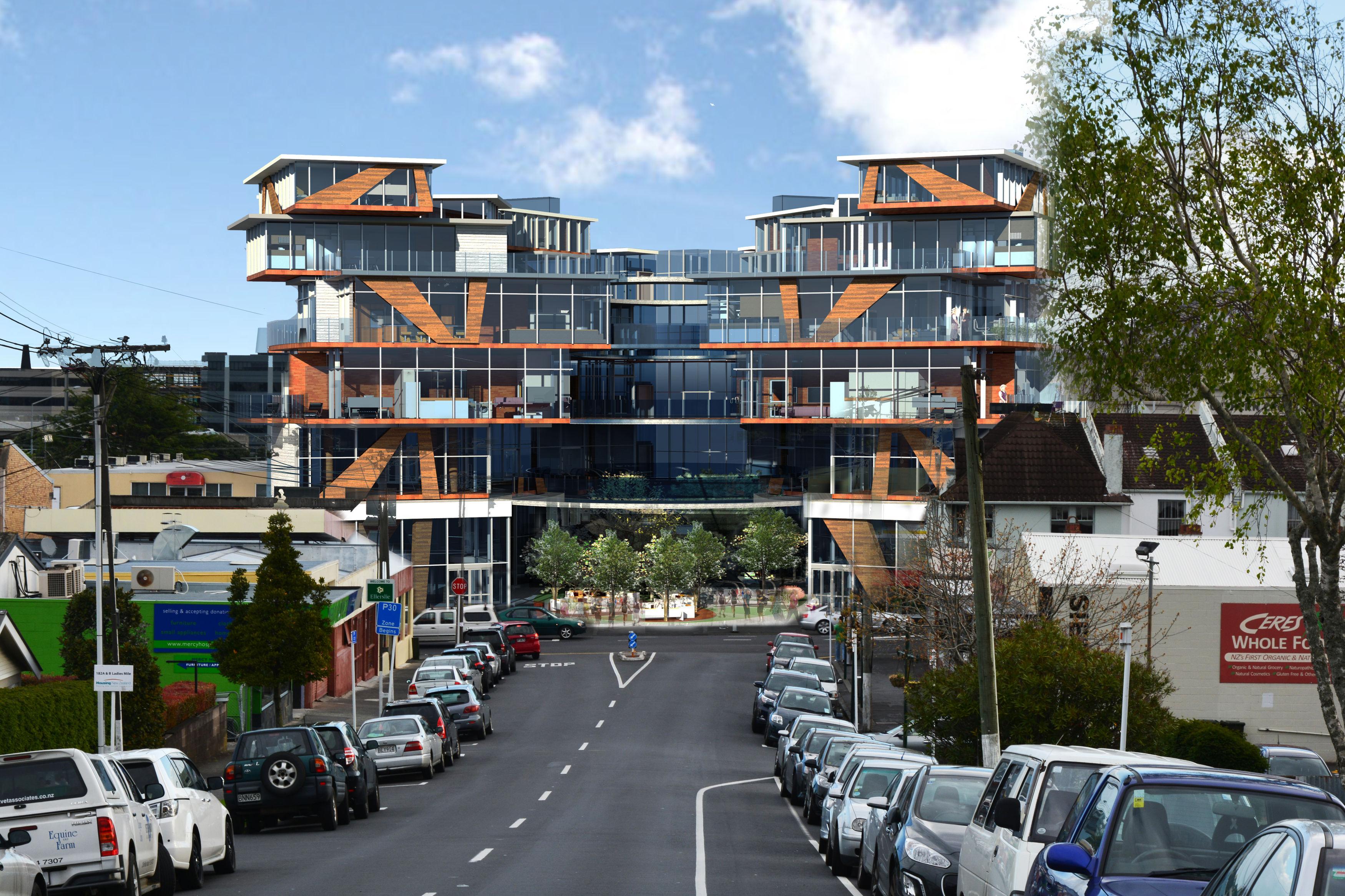 Apartment Building Front ellersielie apartment building |autodesk online gallery