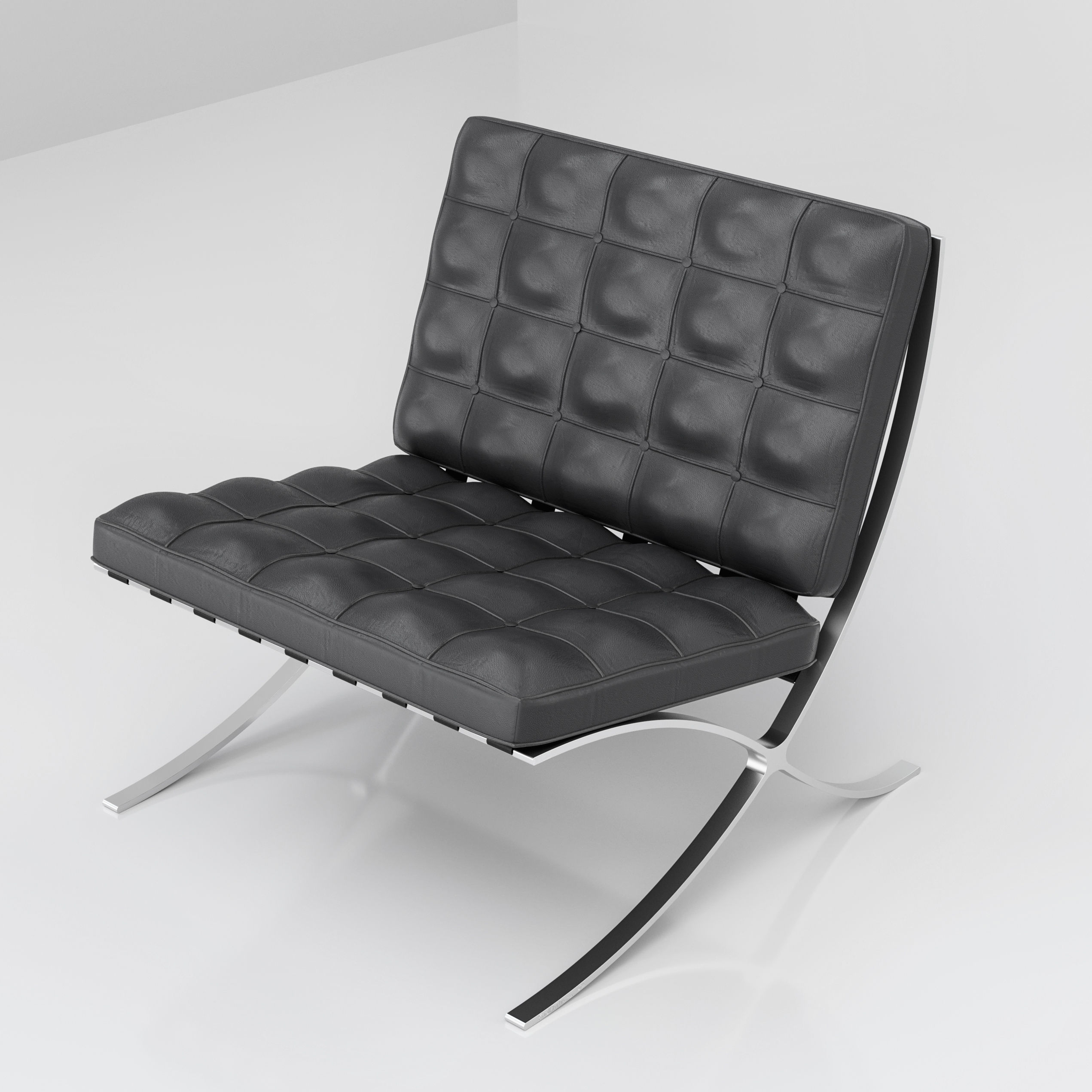 barcelona chair with apologies to mies van der rohe. Black Bedroom Furniture Sets. Home Design Ideas