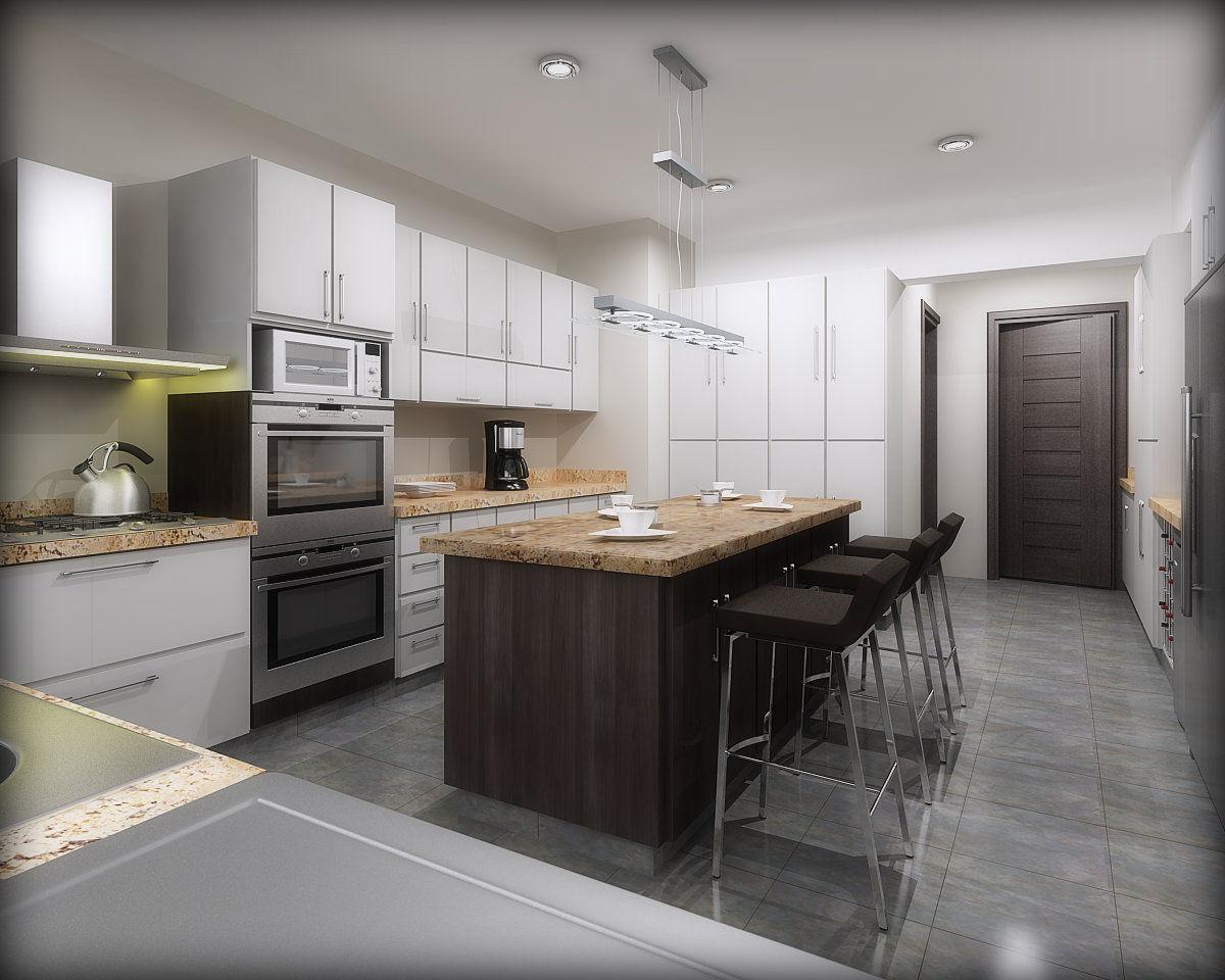 Interiores san isidro ii cocina comedor diario for Simulador de cocinas integrales online