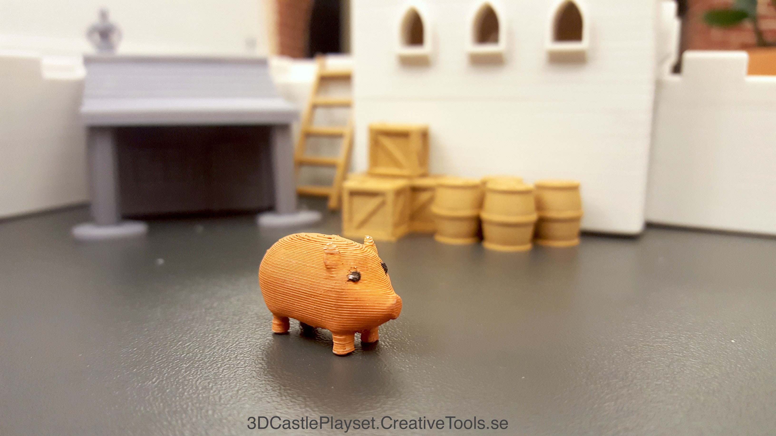 Pig-modular-castle-playset---3d-printable-by-creativetools-se-3500-3500