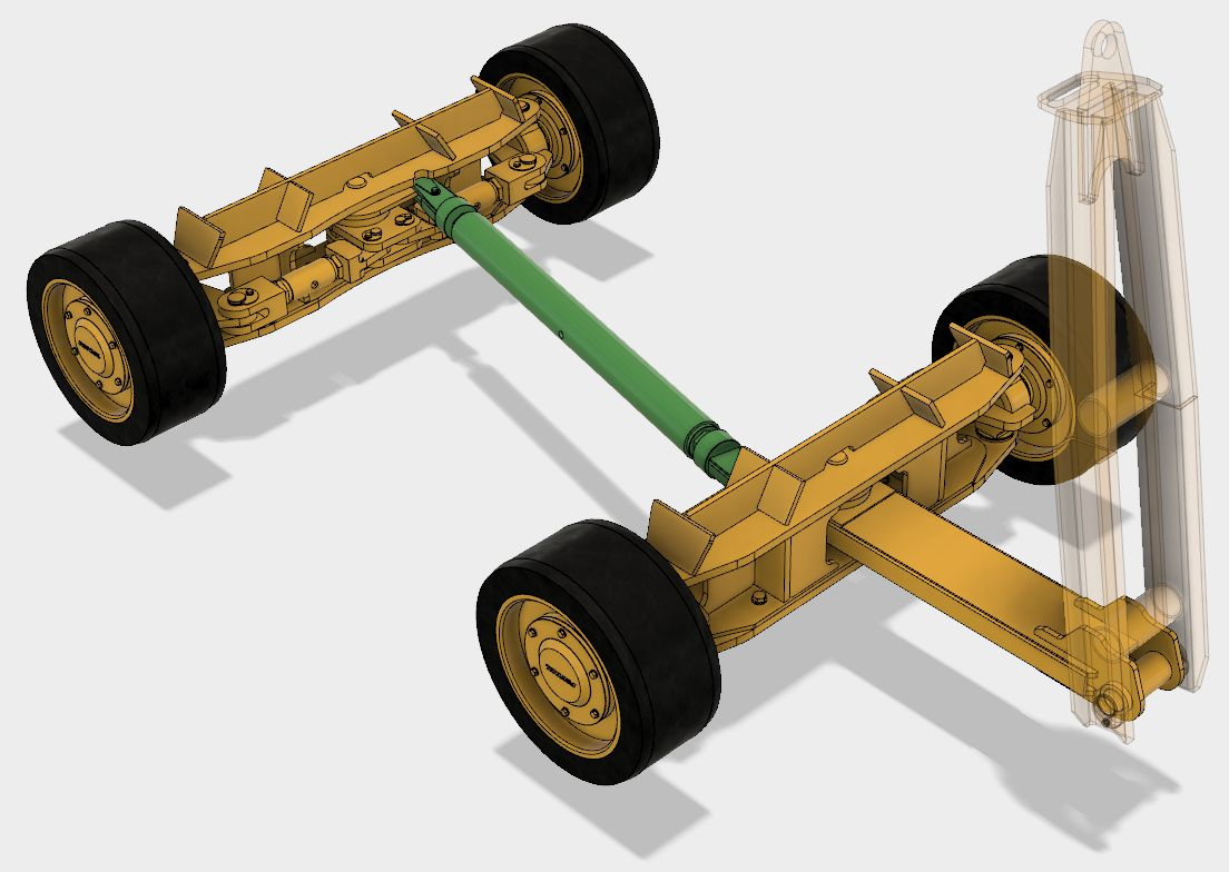 4 Wheel Steer Tractors : Four wheel steering trailer trolley autodesk online gallery
