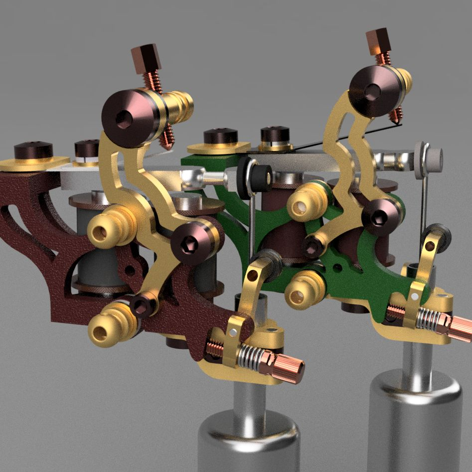 Adjustable tattoo machine.|Autodesk Online Gallery