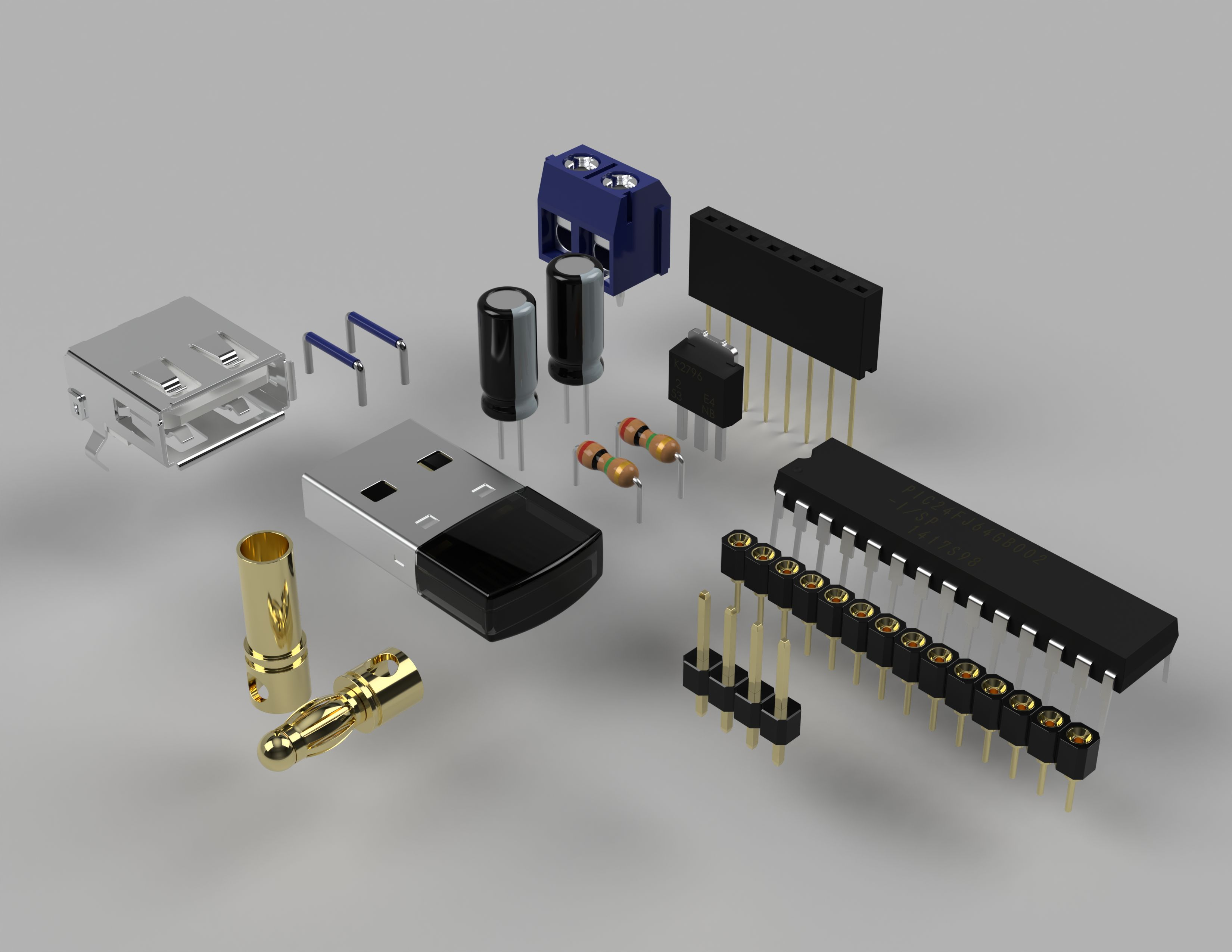 Electronic Component Parts Autodesk Online Gallery Of An Electric Circuit Electroniccomponentparts 1 3500
