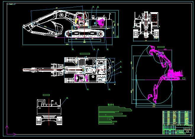 Excavator drawings|Autodesk Online Gallery