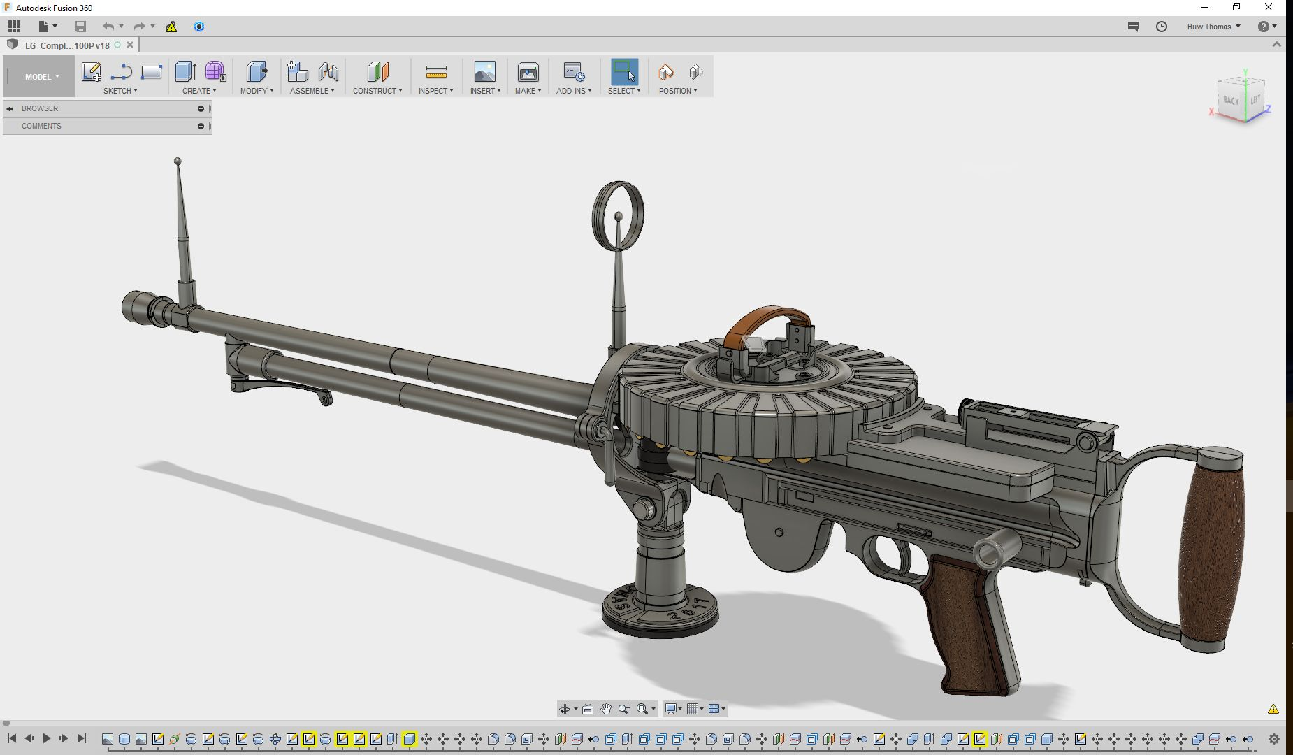1914 Lewis Gun for Airco DH2 WW1 fighter|Autodesk Online Gallery