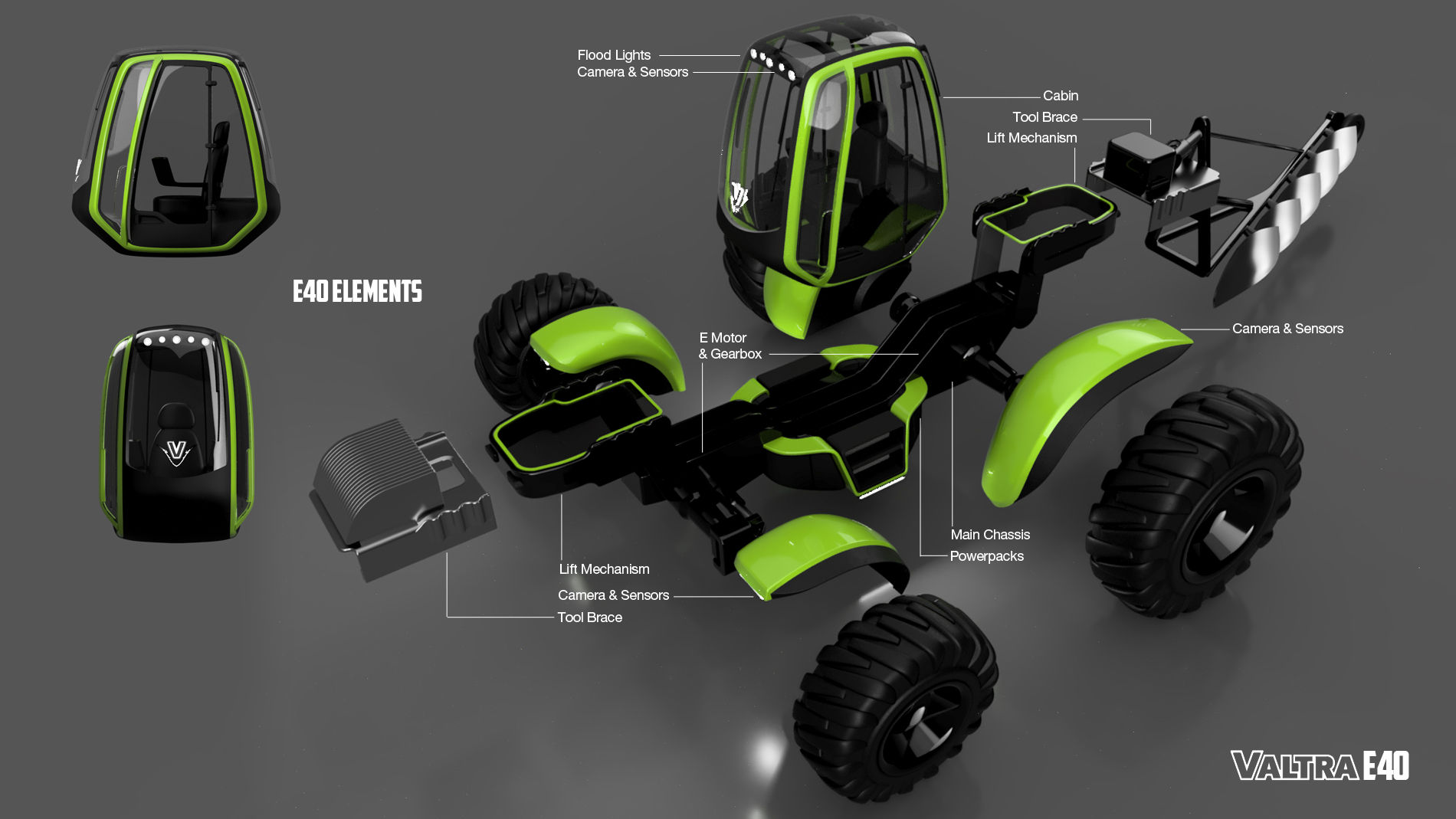 Tractor Chassis Design : Valtra e electric powered tractor autodesk online gallery