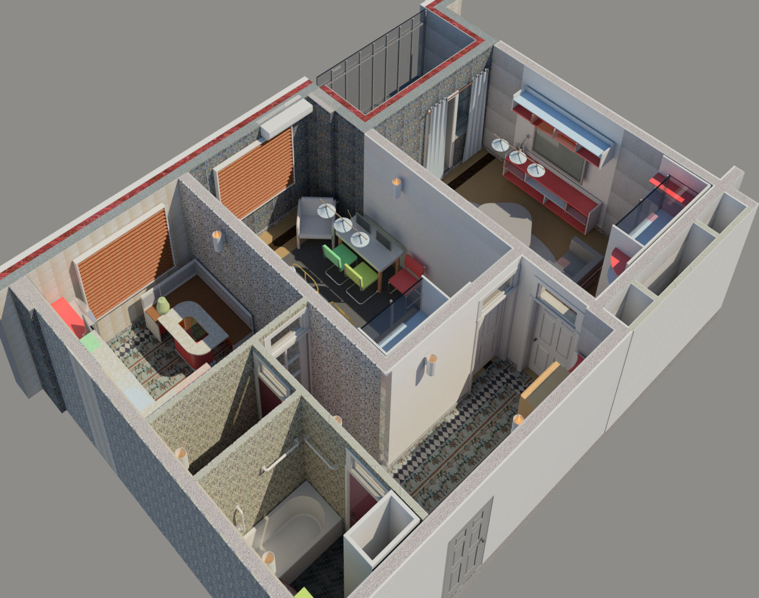 Interior Design Of A Two Bedroom Apartment Autodesk Online Gallery