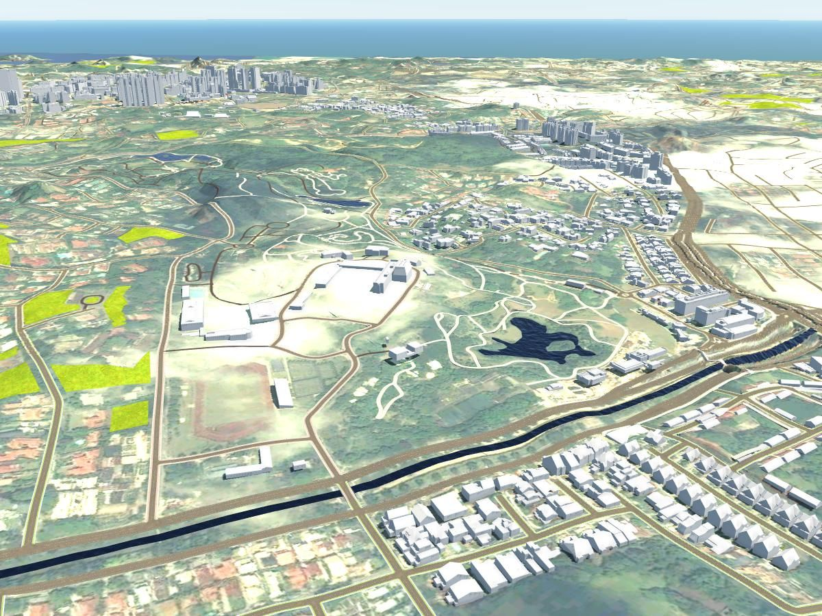 3D Singapore Modeled by CyberCity 3D for Infraworks 360