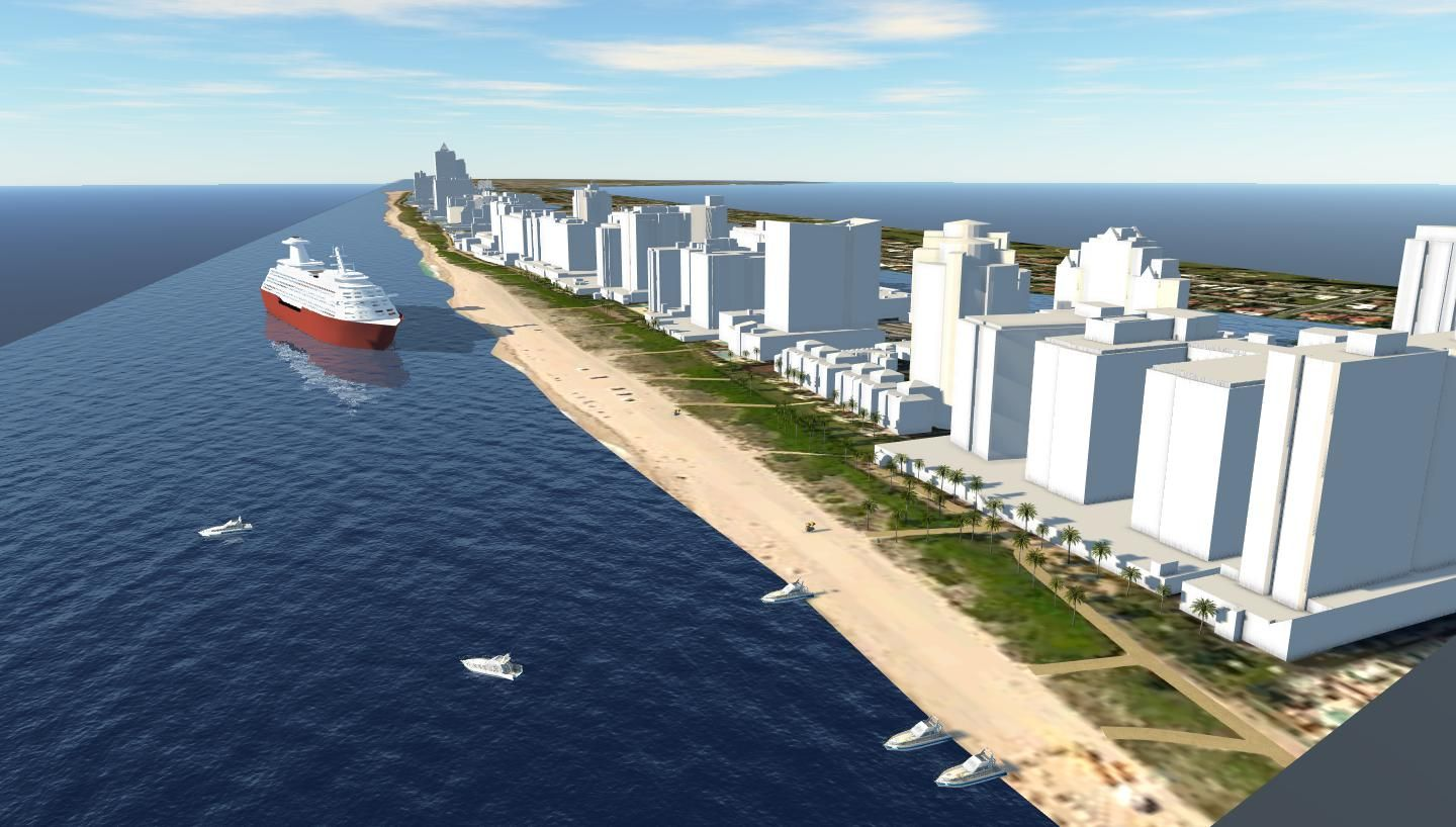 Miami Beach, Florida 3D City Model by CyberCity 3D Context as a