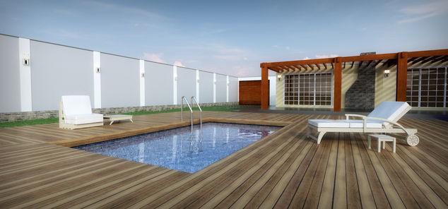Vista terraza y piscina en fusion 360 autodesk online gallery for Terrazas con alberca
