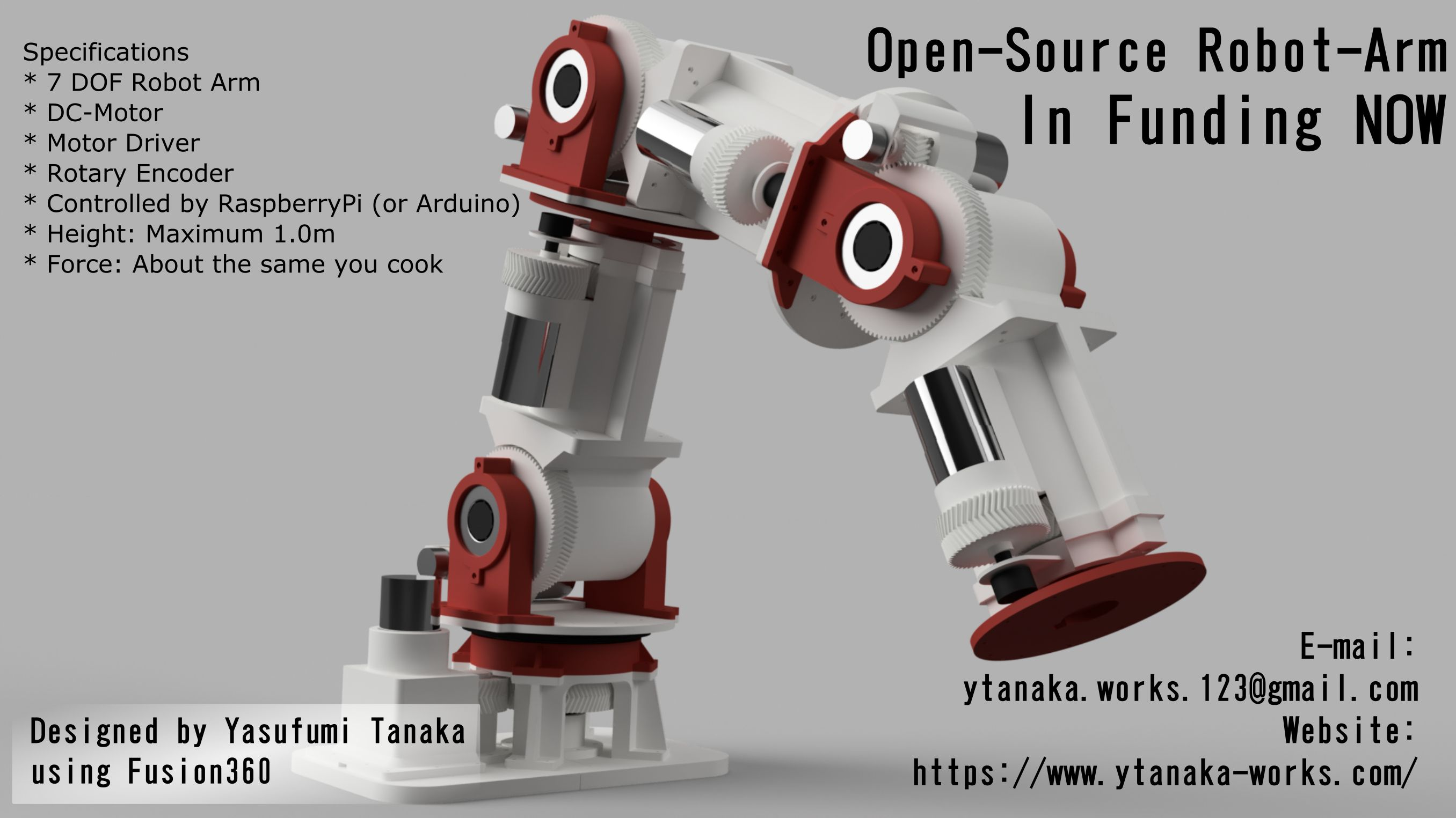 Open-Source Robot Arm (Prototype 01)|Autodesk Online Gallery