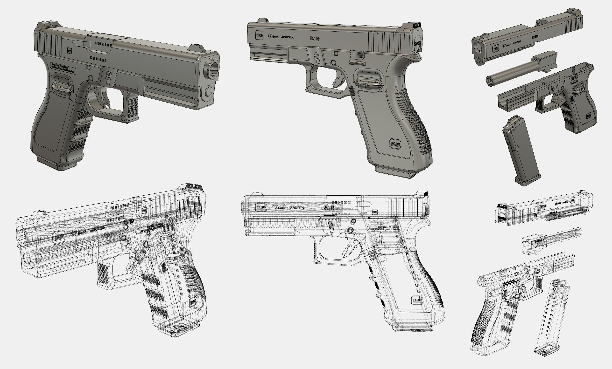 Glock 17|Autodesk Online Gallery