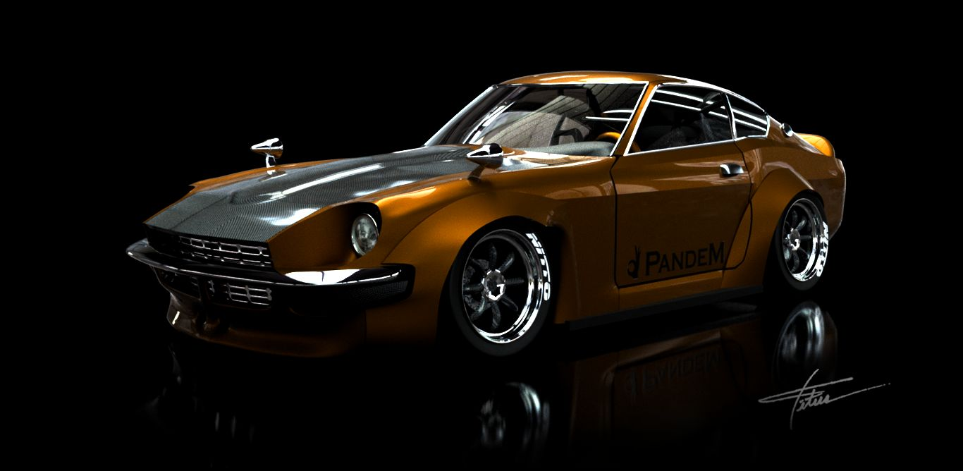nissan datsun 240z wide body autodesk online gallery. Black Bedroom Furniture Sets. Home Design Ideas