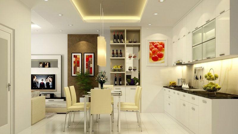 Mẫu phòng bếp thiết kế đơn giản, gọn gàng, sạch sẽ 1