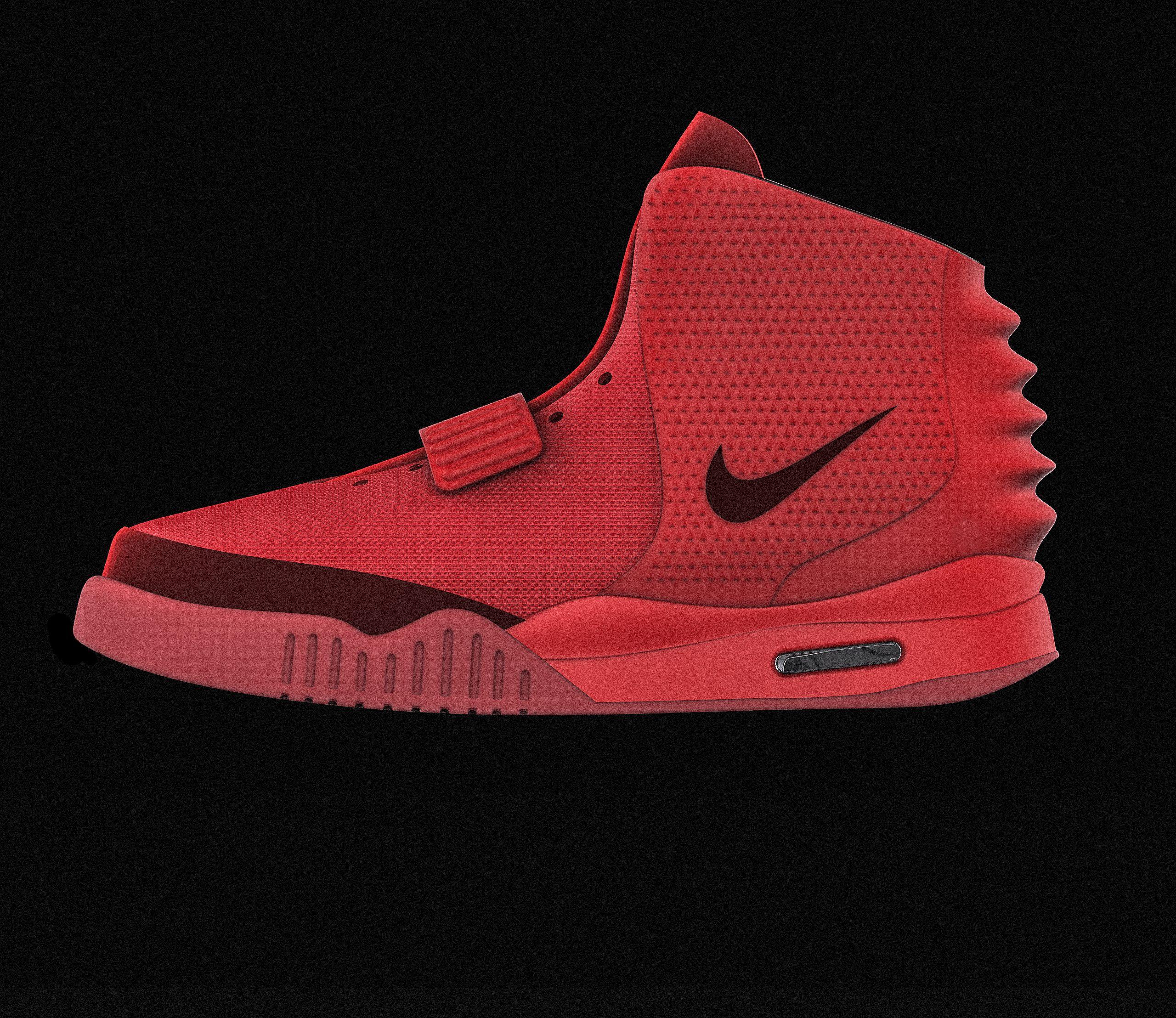 teoría dentro Artículos de primera necesidad  Nike Air Yeezy Red October|Autodesk Online Gallery