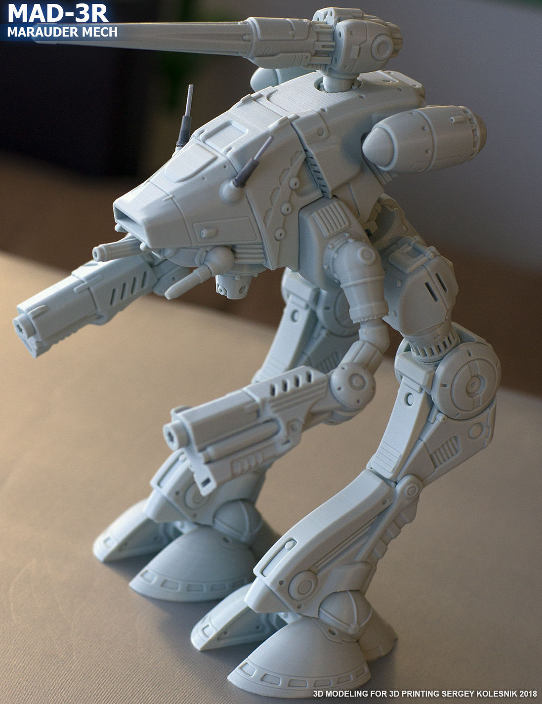 Original MAD-3R Marauder Mech Autodesk Online Gallery