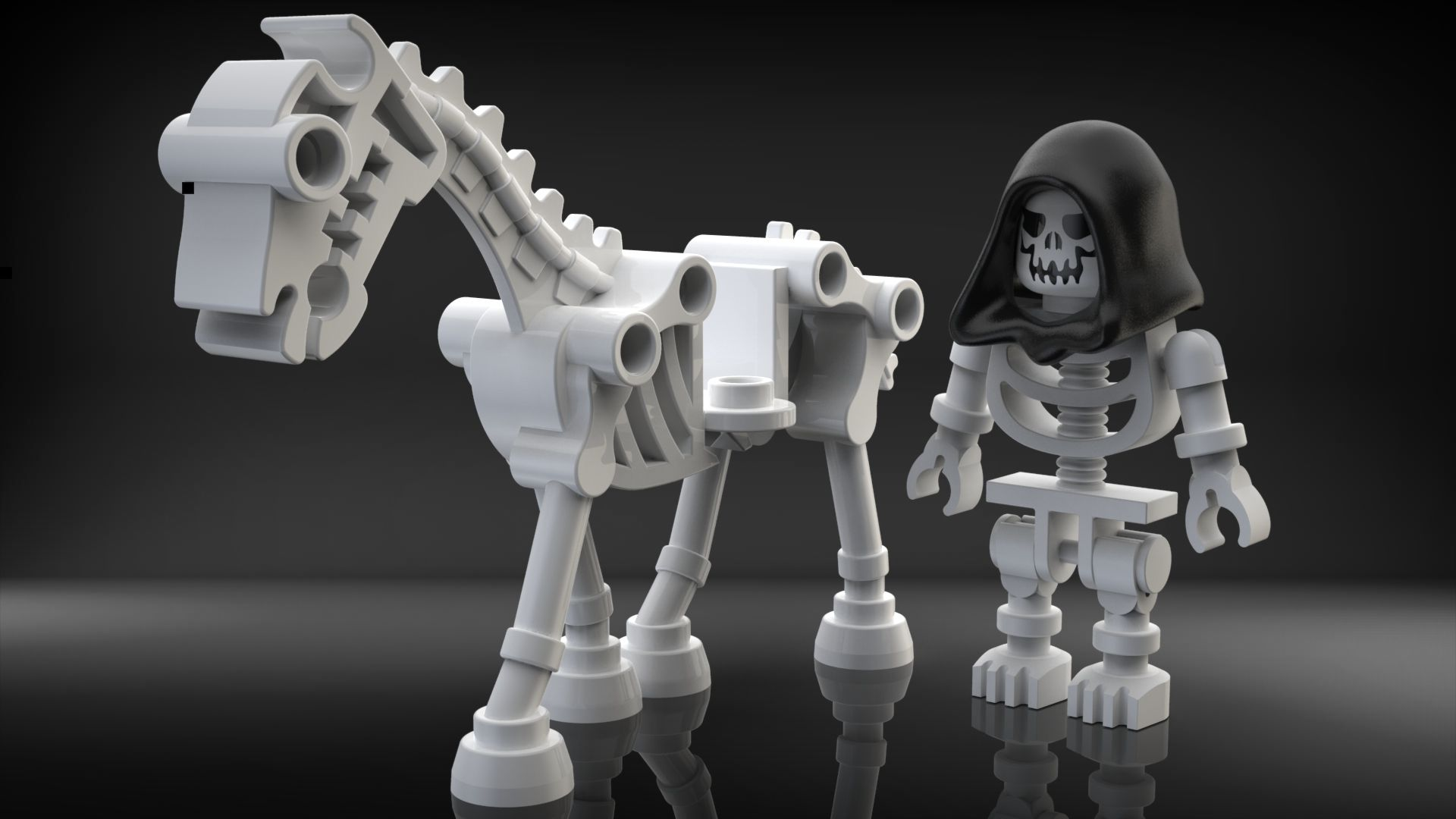 Genuine Lego NEW Custom Printed GRIM REAPER Lego Minifigure