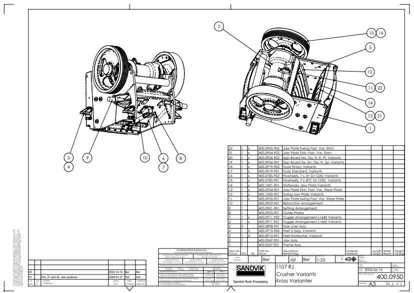 Sandvik jaw crusher 1107RJ complete drawing|Autodesk Online ... on