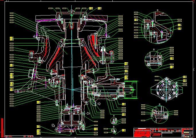 Sandvik HIDROCONE CRUSHERS H4800 complete drawing|Autodesk Online
