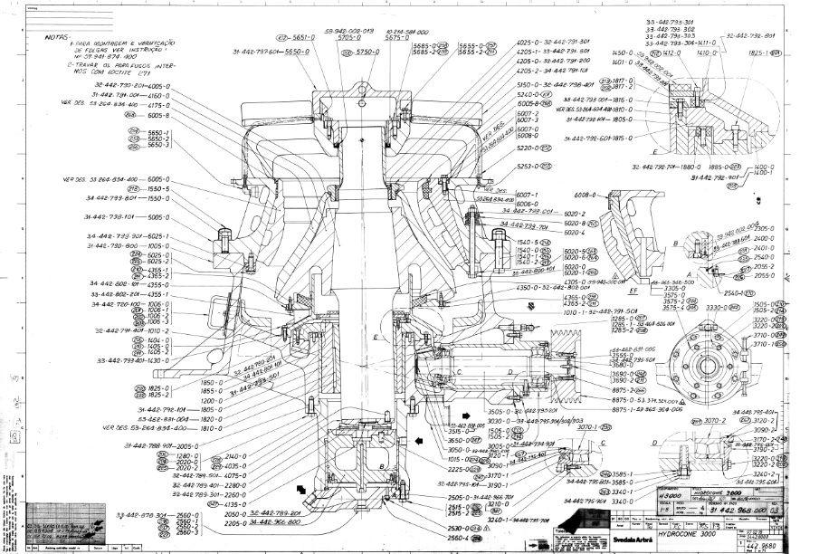 Sandvik HIDROCONE CRUSHERS H3000 complete drawing|Autodesk Online