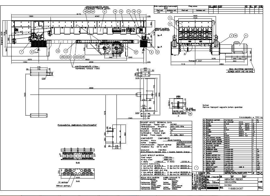 Sandvik CV1562 feeder complete drawing|Autodesk Online Gallery
