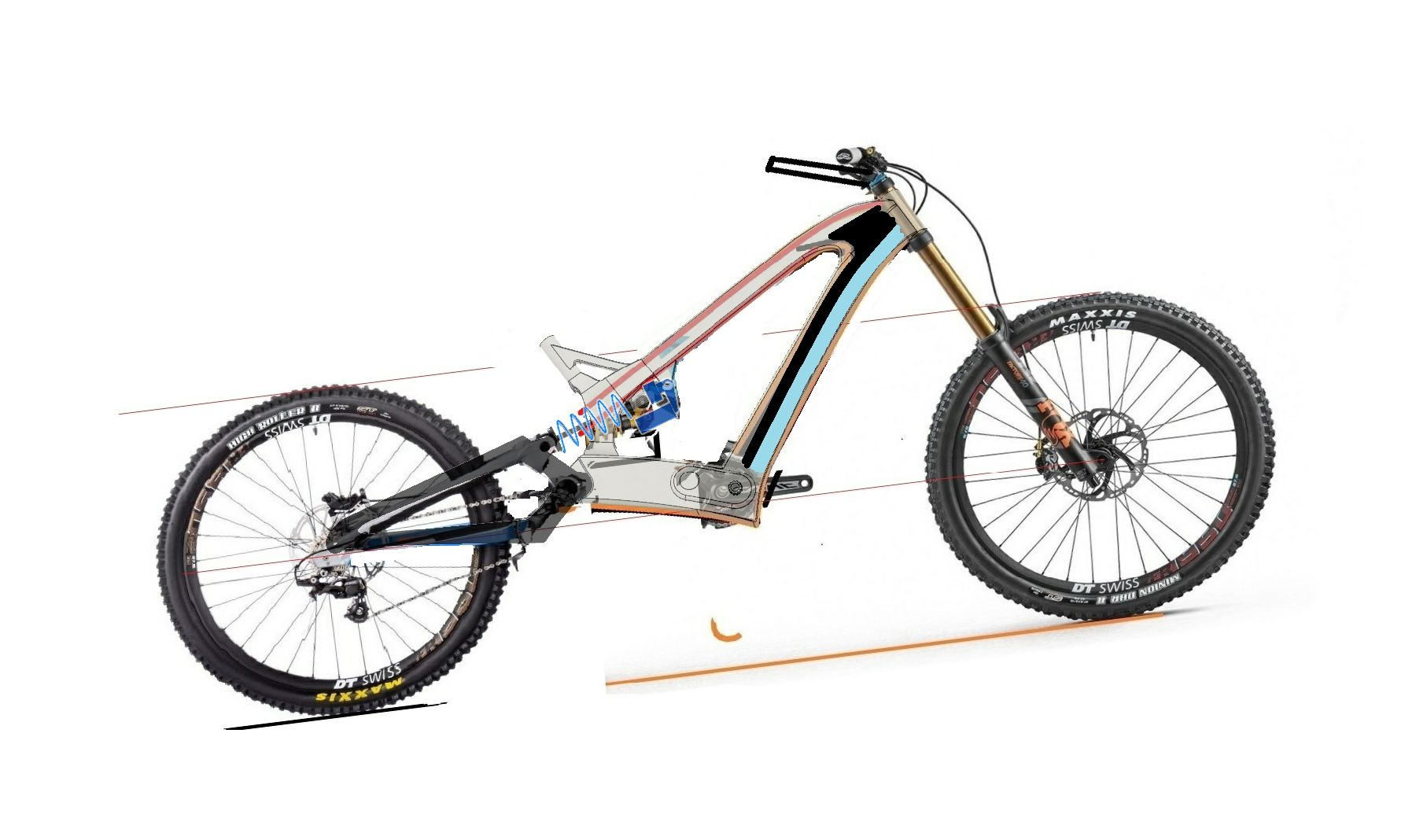 Composite-image-of-the-frame-and-downhill-bike-parts-for-design-3500-3500