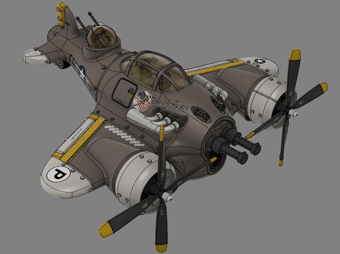 Steampunk-airplane-007-3500-3500